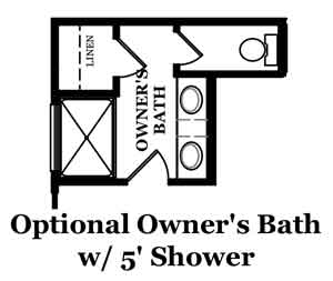Winslow Optional Owner's Bath with Shower