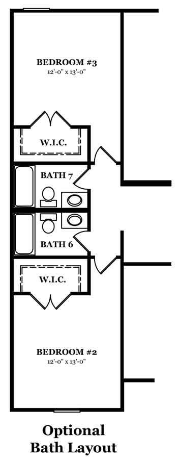 Bradford Optional Bath Layout