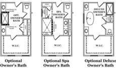 Cavendish Owner's Bath Options