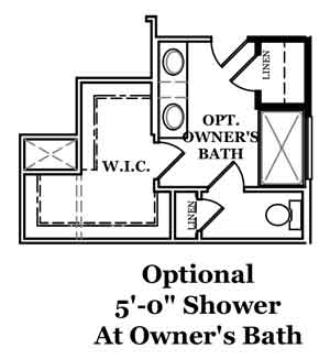 Rockwell Optional Shower at Owner's Bath