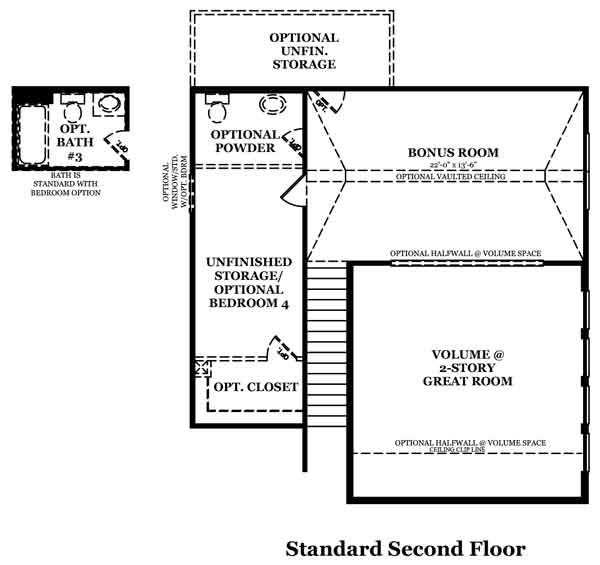 Somerville II Optional Luxury Owner's Bath