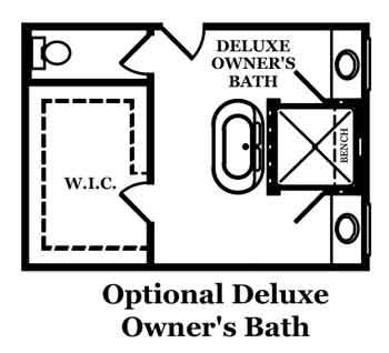 Dover II Optional Deluxe Owner's Bath