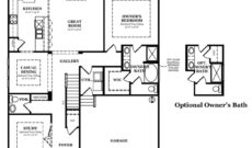 Hensley Standard First Floor with Optional Owner's Bath